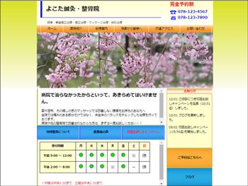 病院向けのサンプルサイトのイメージ